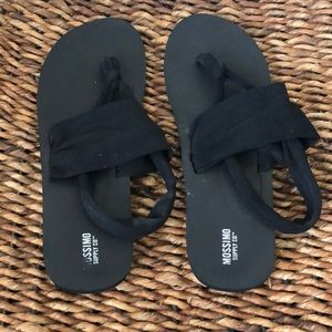 Mossimo Supply Co. Shoes - Mossimo Supply Co. black fabric sandals